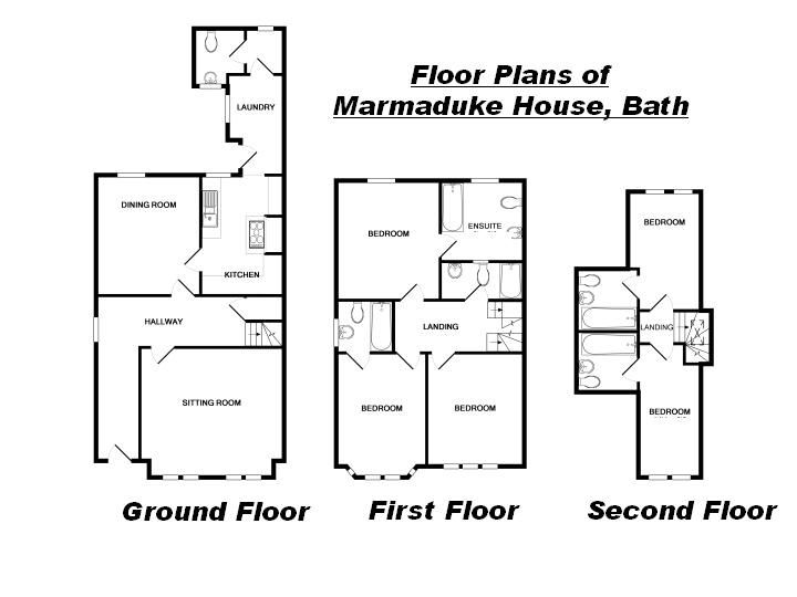 Marmaduke house holiday cottage bath layout marmaduke for Holiday house plans
